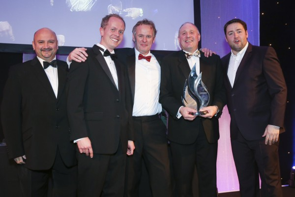 The Derek Bonnard Award for Excellence:  Saint-Gobain Glass UK, presented by Joe Hague of Promac.